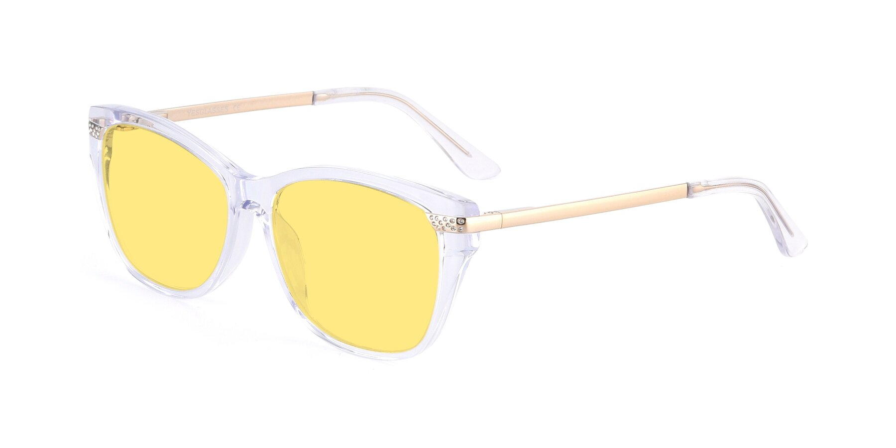 Angle of 17515 in Clear with Medium Yellow Tinted Lenses