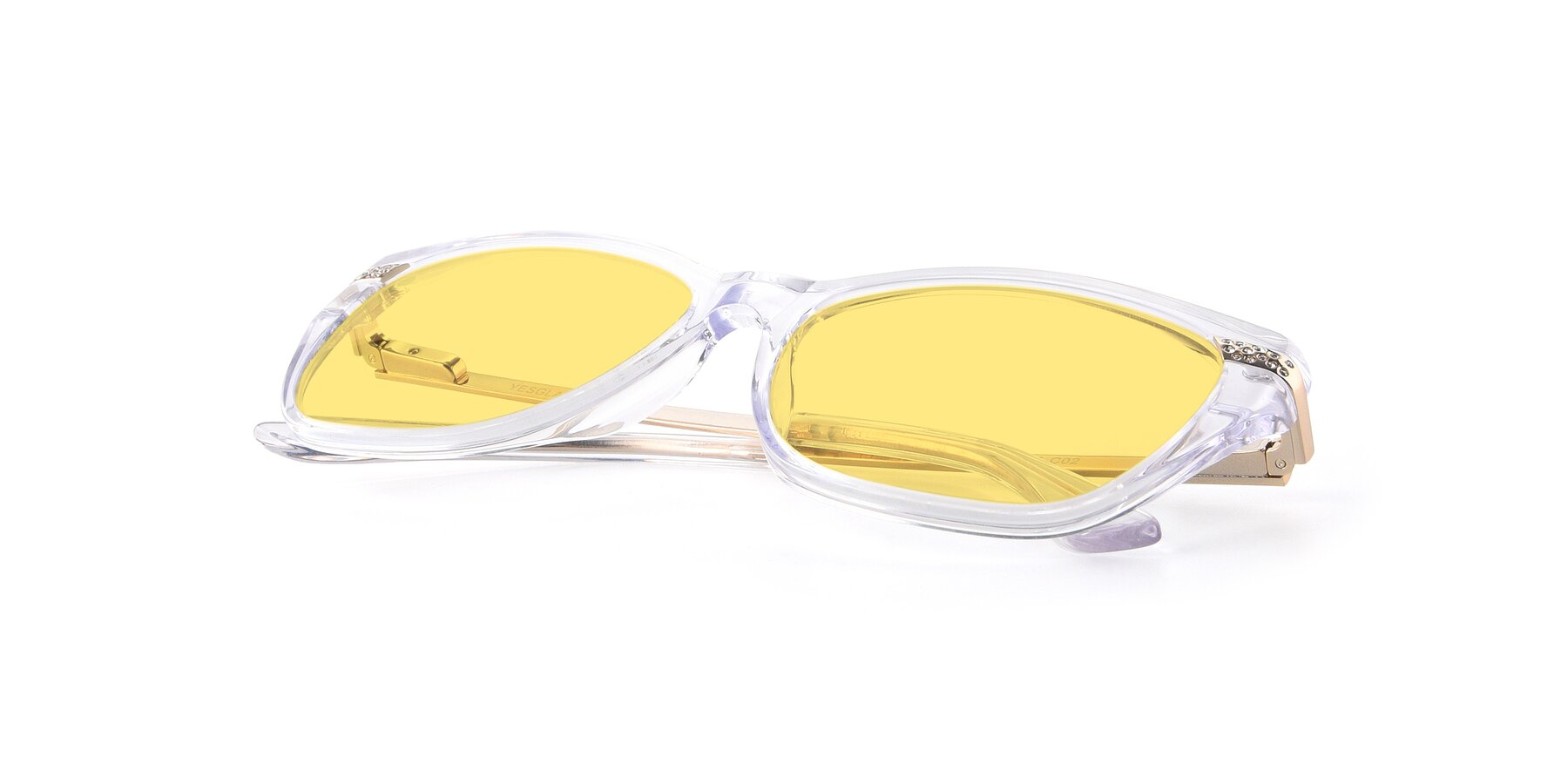 View of 17515 in Clear with Medium Yellow Tinted Lenses