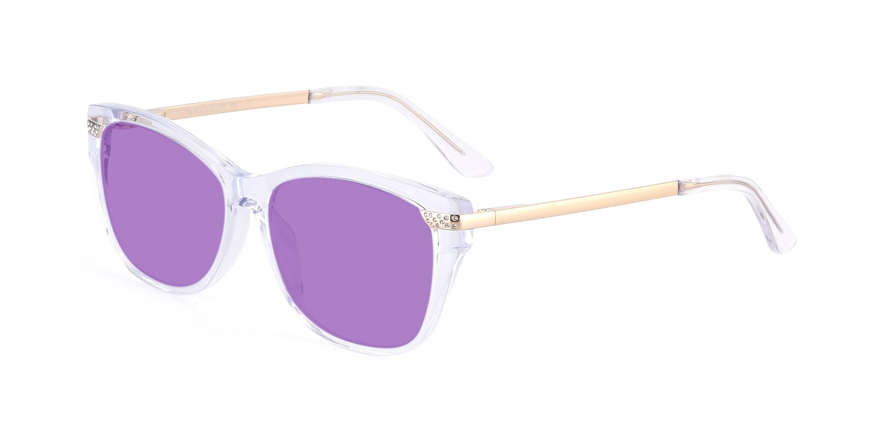 Angle of 17515 in Clear with Medium Purple Tinted Lenses