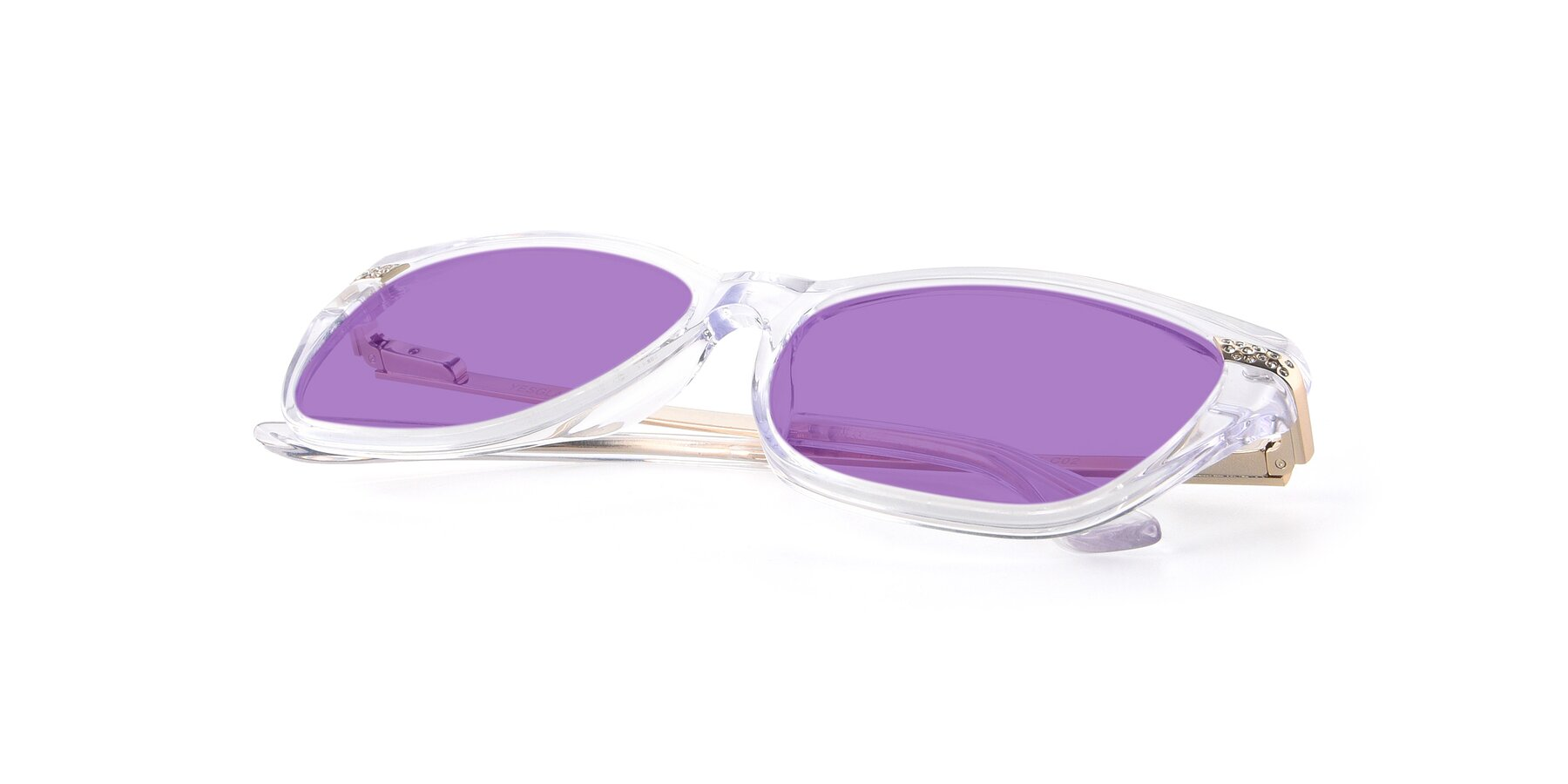 View of 17515 in Clear with Medium Purple Tinted Lenses