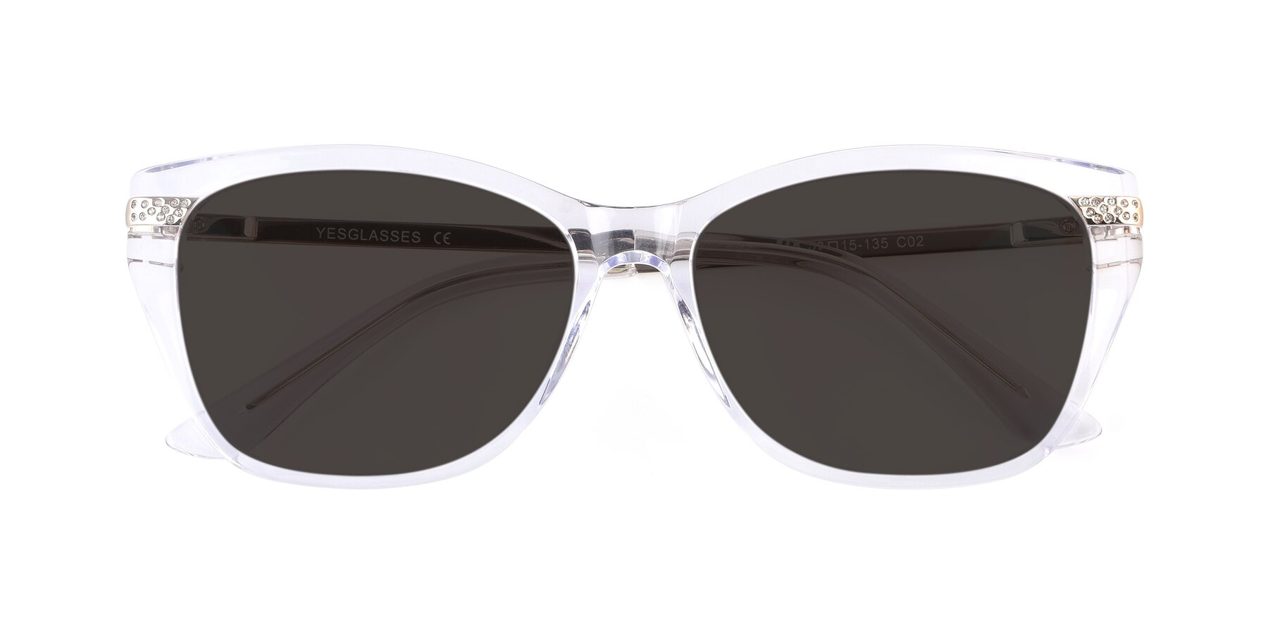 Folded Front of 17515 in Clear with Gray Tinted Lenses