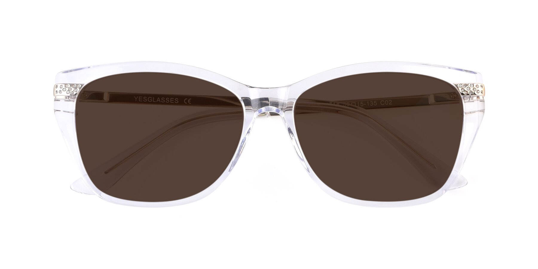 Folded Front of 17515 in Clear with Brown Tinted Lenses
