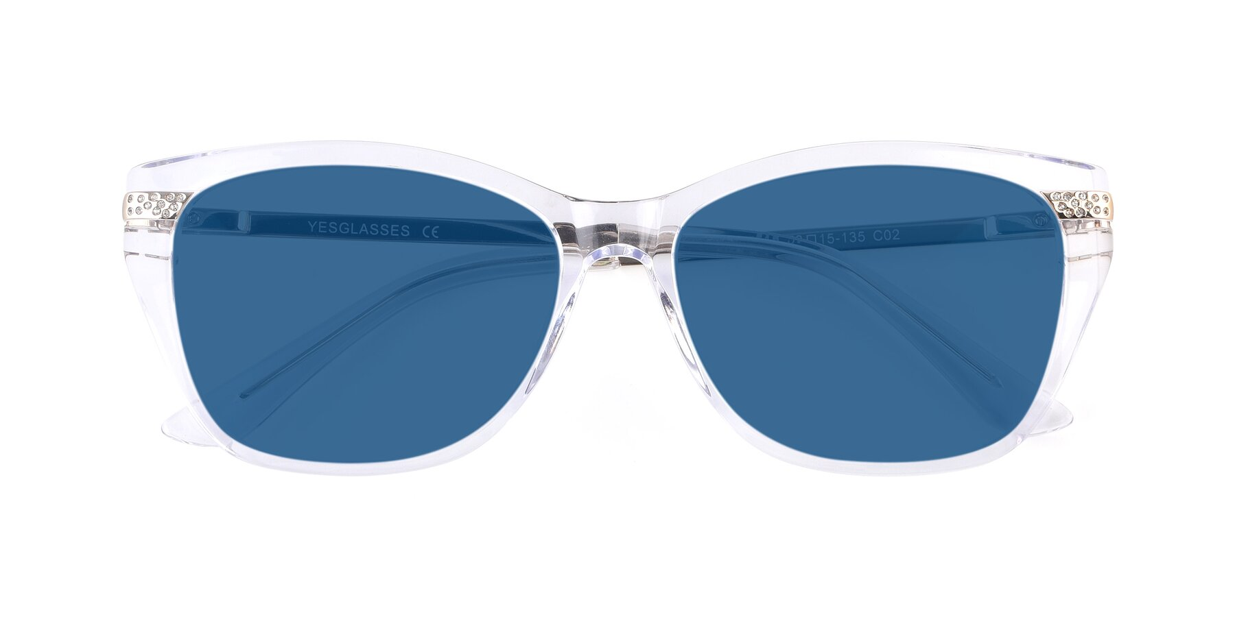 Folded Front of 17515 in Clear with Blue Tinted Lenses