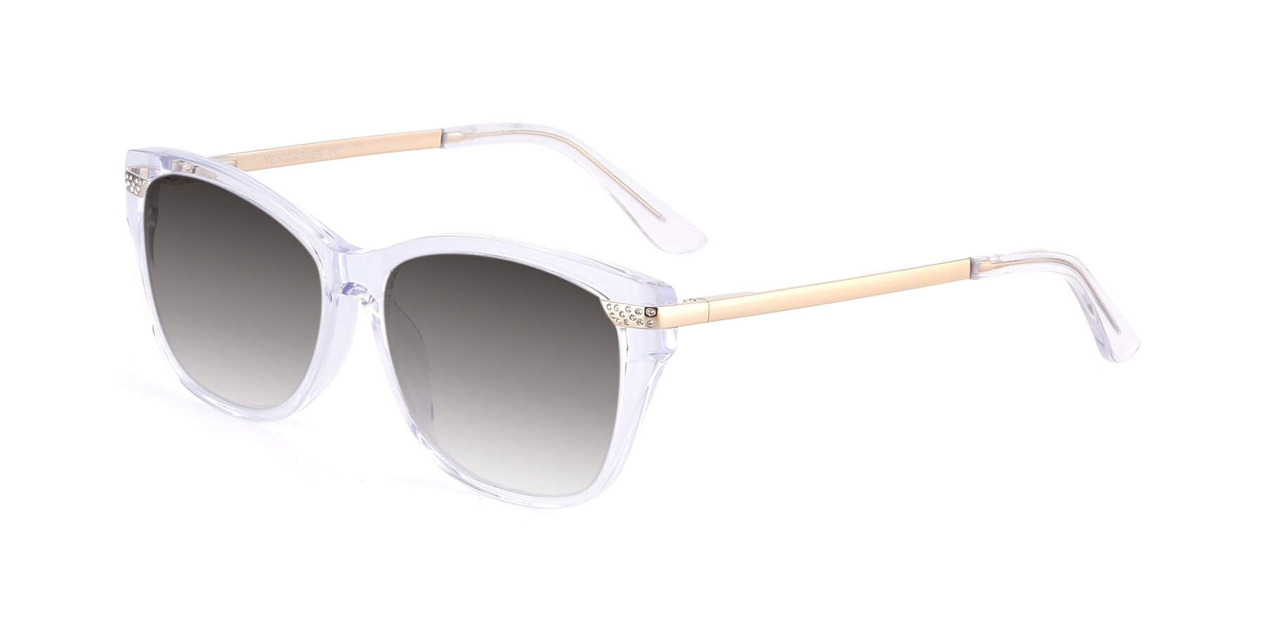 Angle of 17515 in Clear with Gray Gradient Lenses