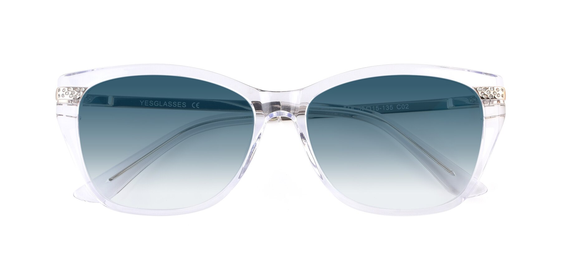 Folded Front of 17515 in Clear with Blue Gradient Lenses