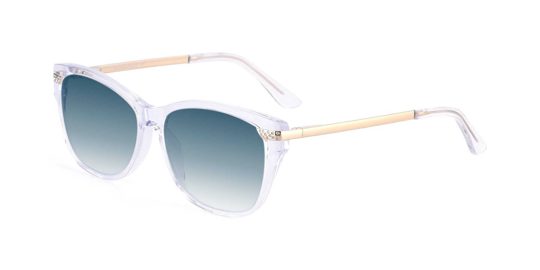 Angle of 17515 in Clear with Blue Gradient Lenses