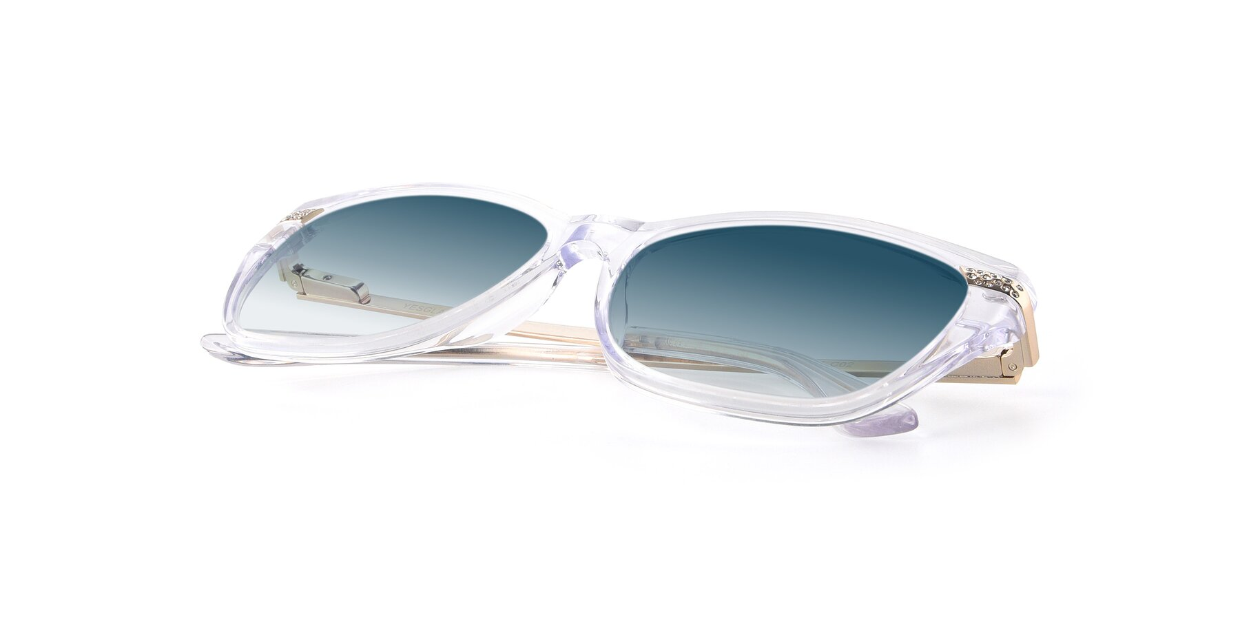 View of 17515 in Clear with Blue Gradient Lenses