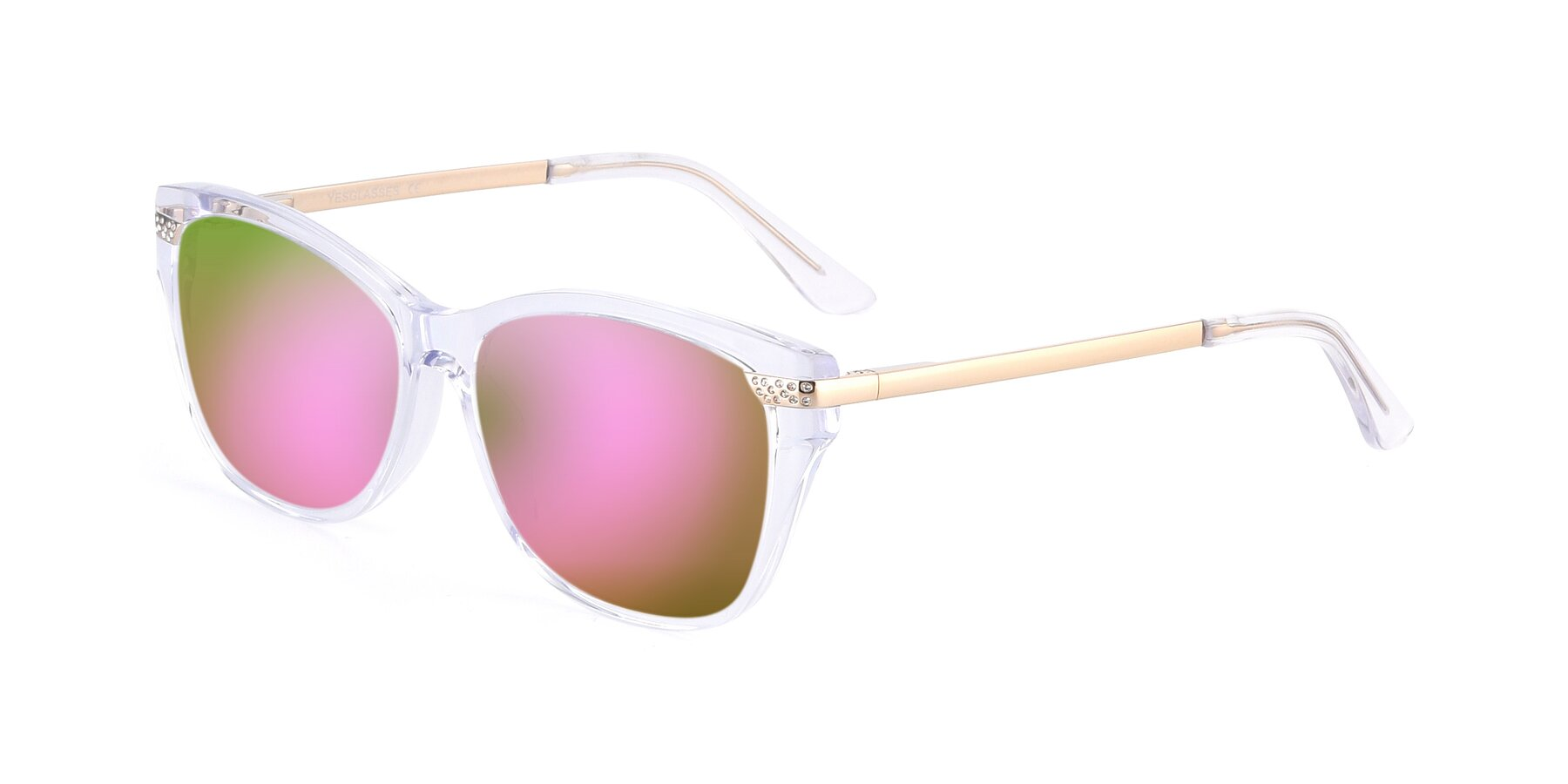 Angle of 17515 in Clear with Pink Mirrored Lenses