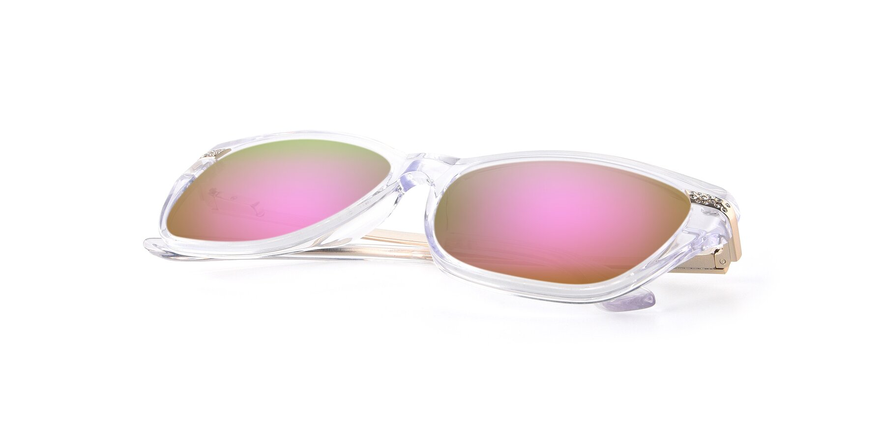 View of 17515 in Clear with Pink Mirrored Lenses