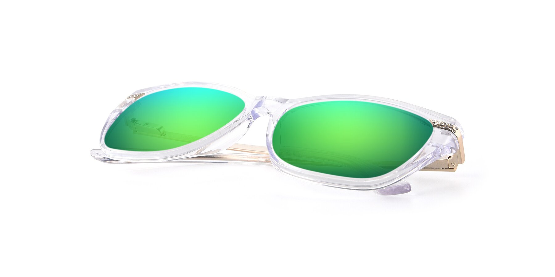 View of 17515 in Clear with Green Mirrored Lenses