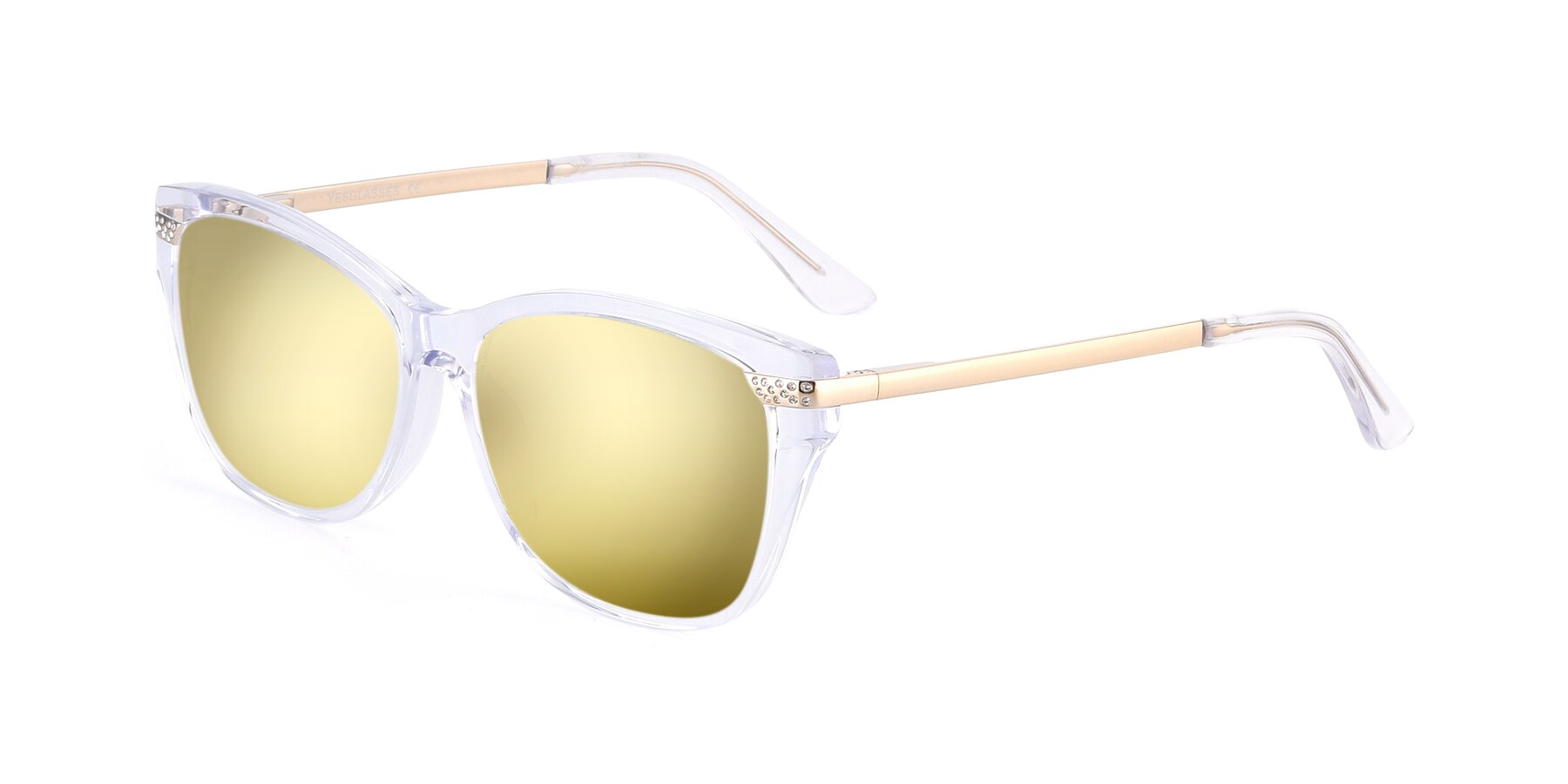 Angle of 17515 in Clear with Gold Mirrored Lenses