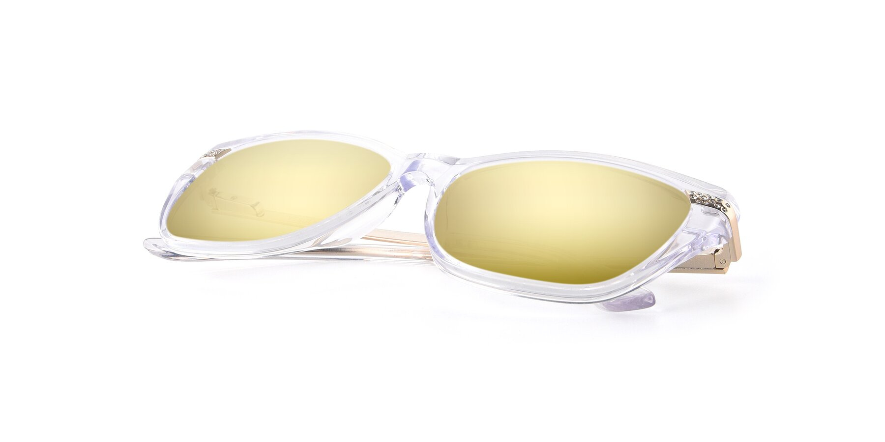 View of 17515 in Clear with Gold Mirrored Lenses