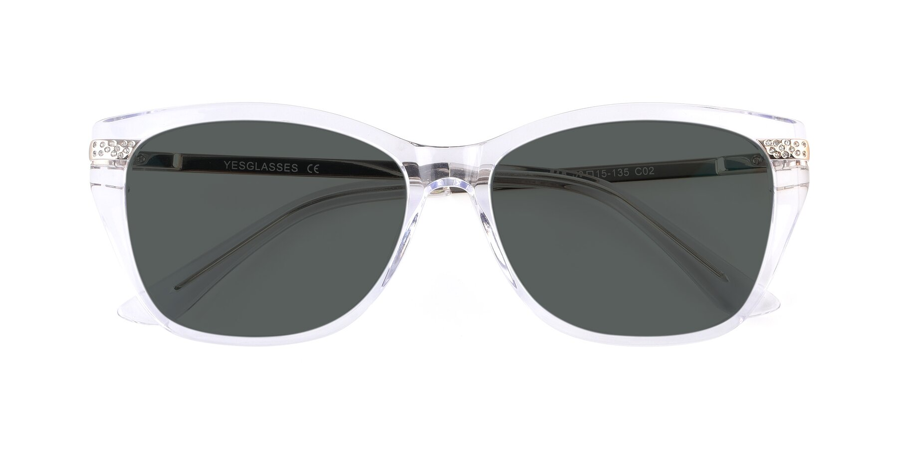 Folded Front of 17515 in Clear with Gray Polarized Lenses