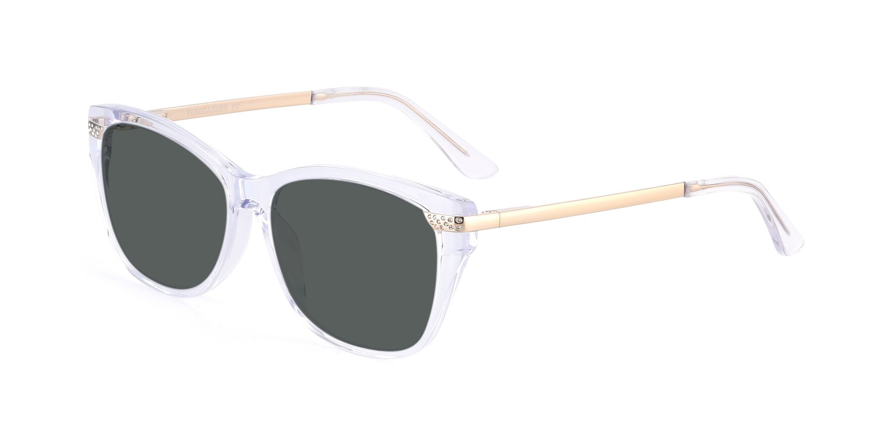 Angle of 17515 in Clear with Gray Polarized Lenses