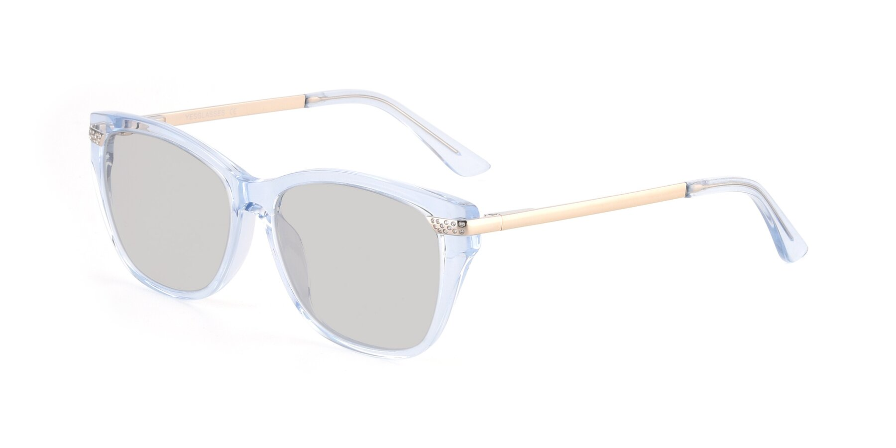 Angle of 17515 in Transparent Blue with Light Gray Tinted Lenses