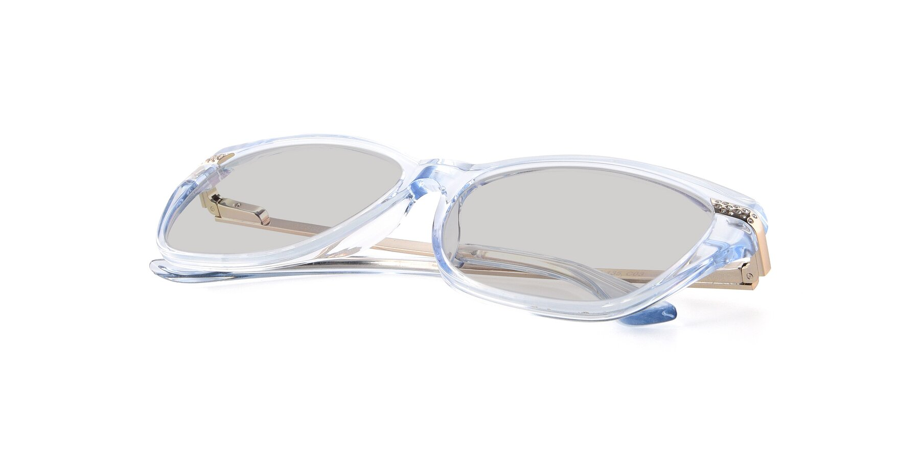View of 17515 in Transparent Blue with Light Gray Tinted Lenses
