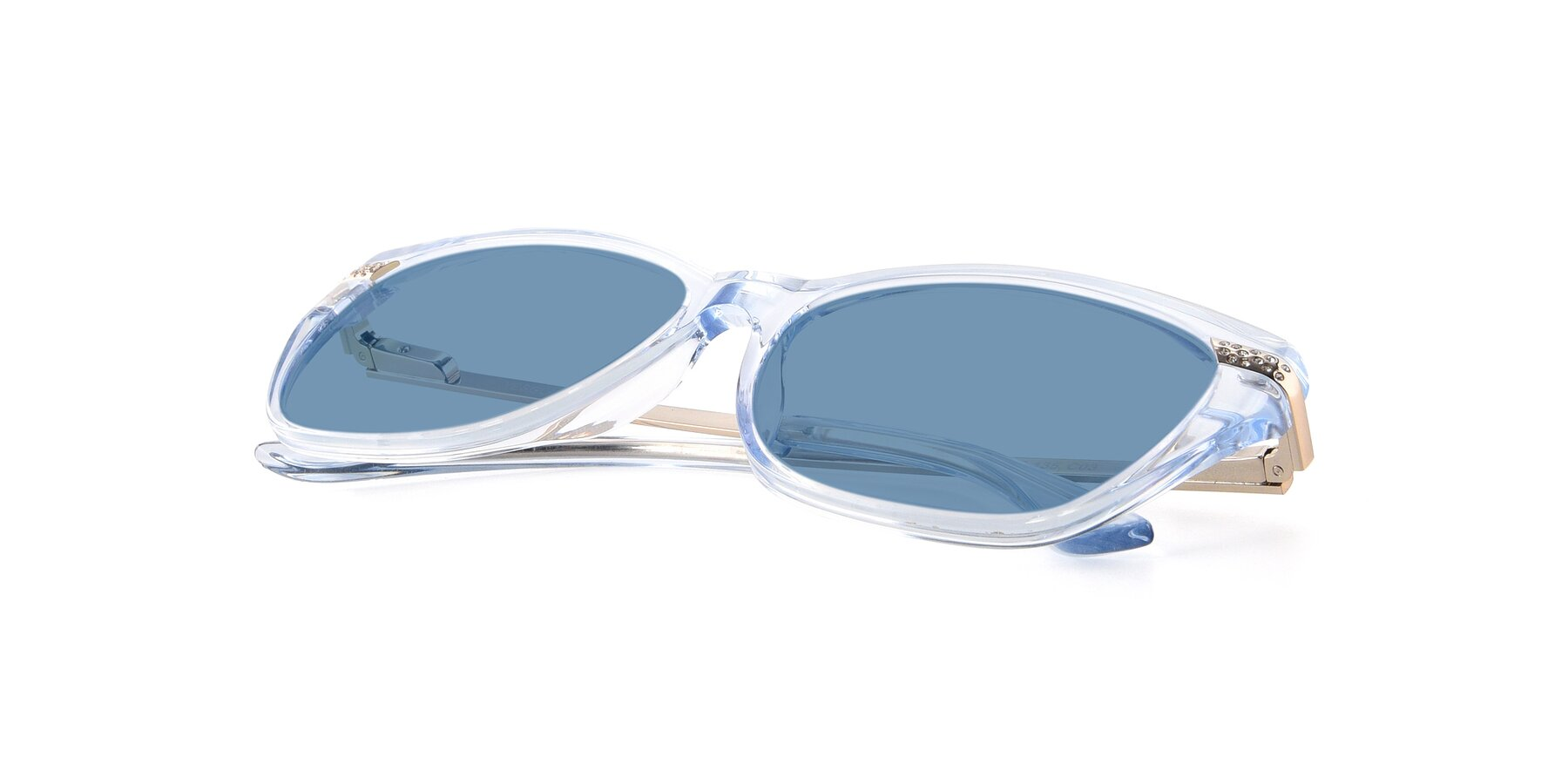 View of 17515 in Transparent Blue with Medium Blue Tinted Lenses