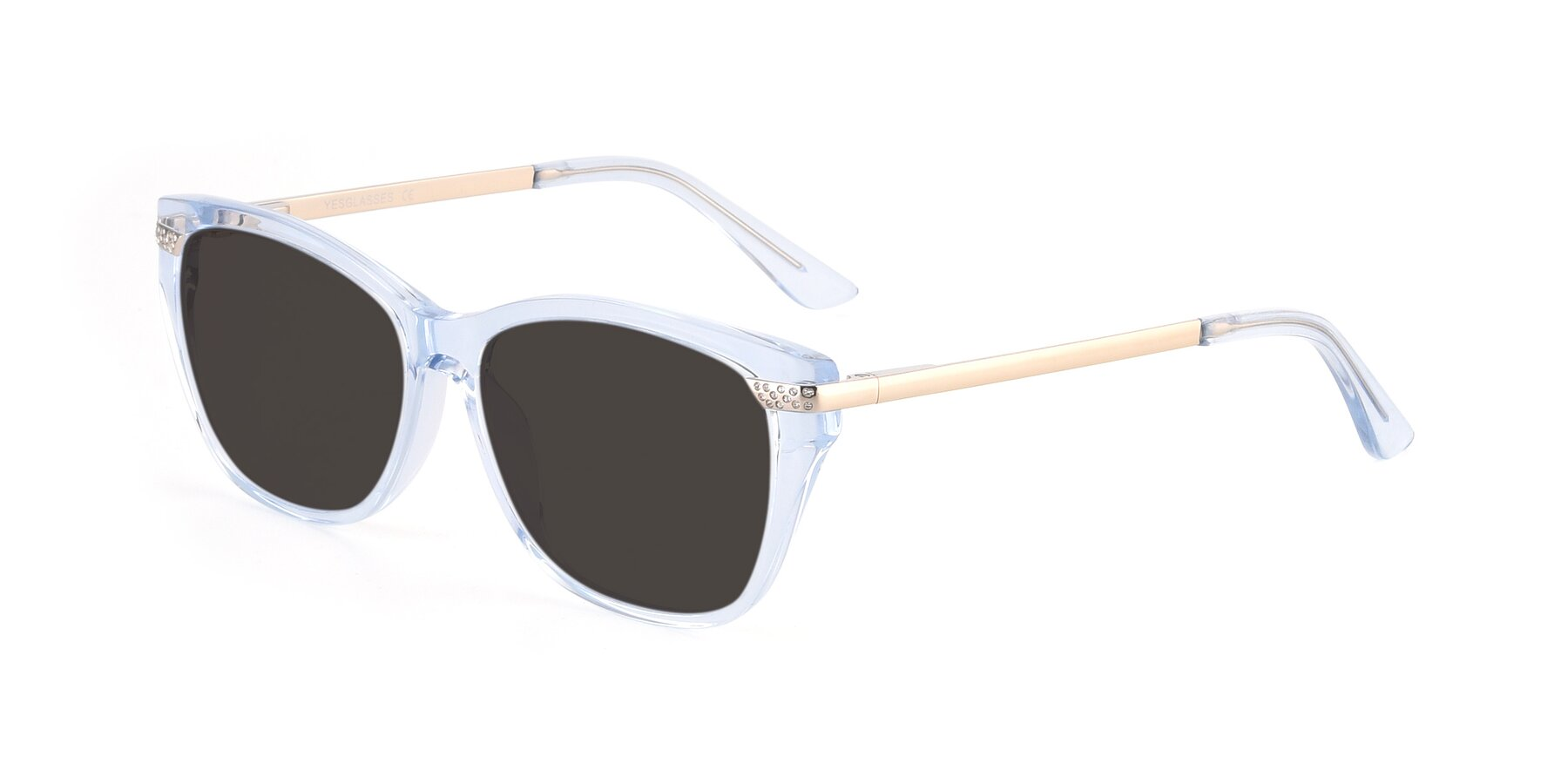 Angle of 17515 in Transparent Blue with Gray Tinted Lenses
