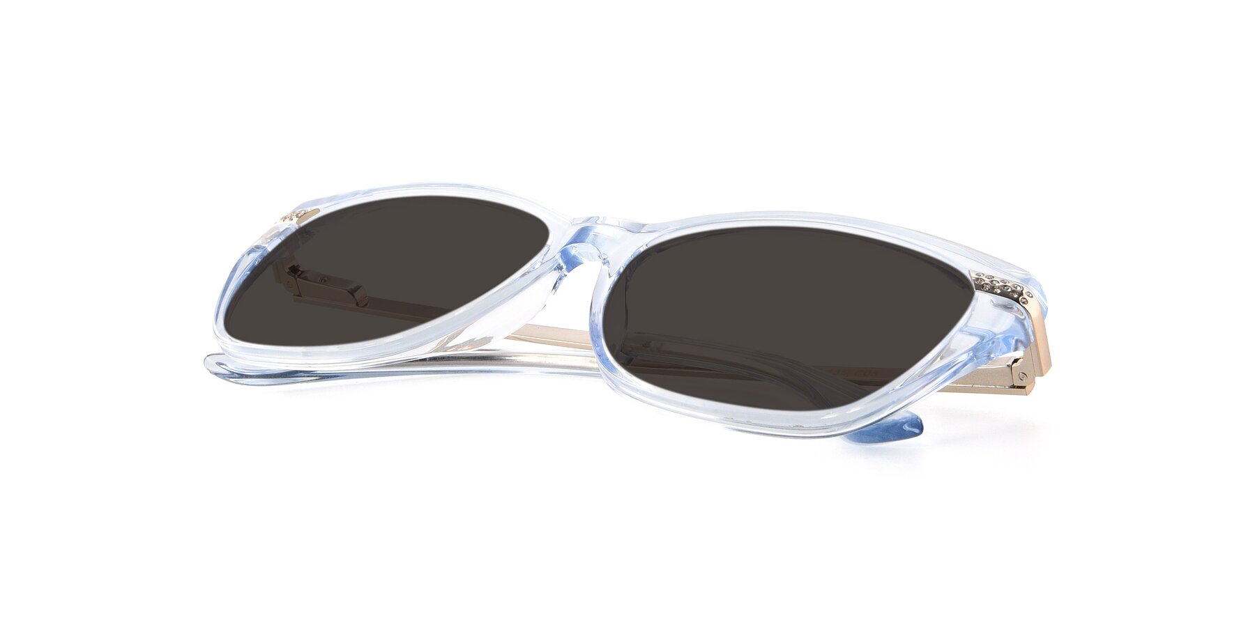 View of 17515 in Transparent Blue with Gray Tinted Lenses