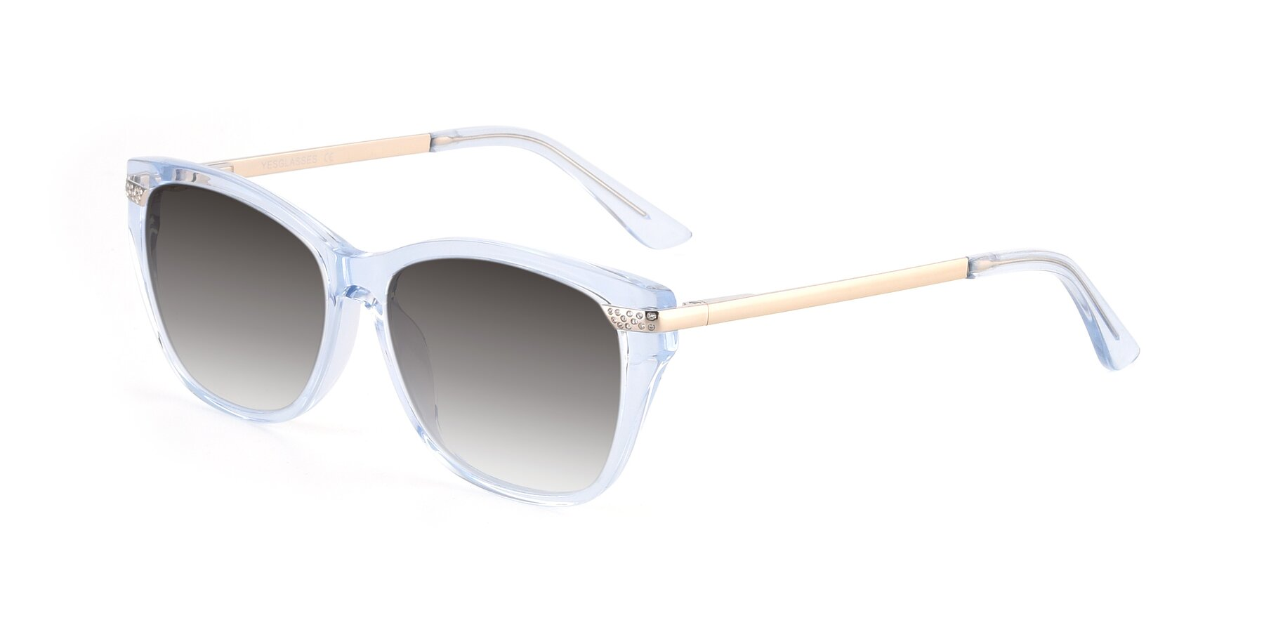 Angle of 17515 in Transparent Blue with Gray Gradient Lenses
