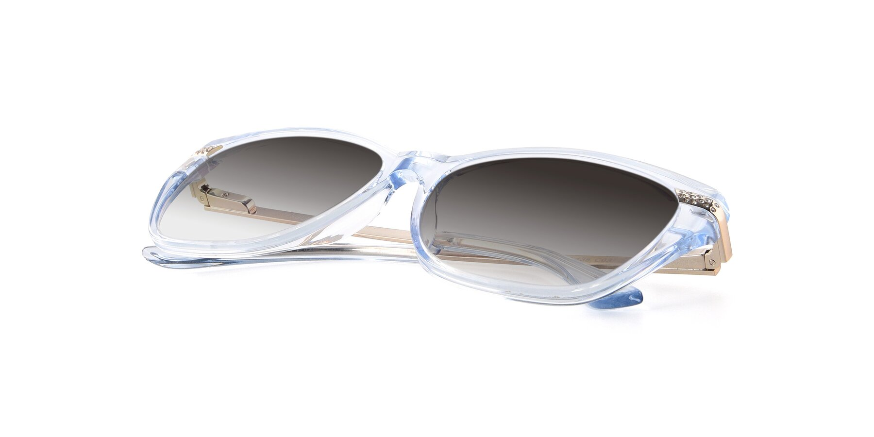 View of 17515 in Transparent Blue with Gray Gradient Lenses