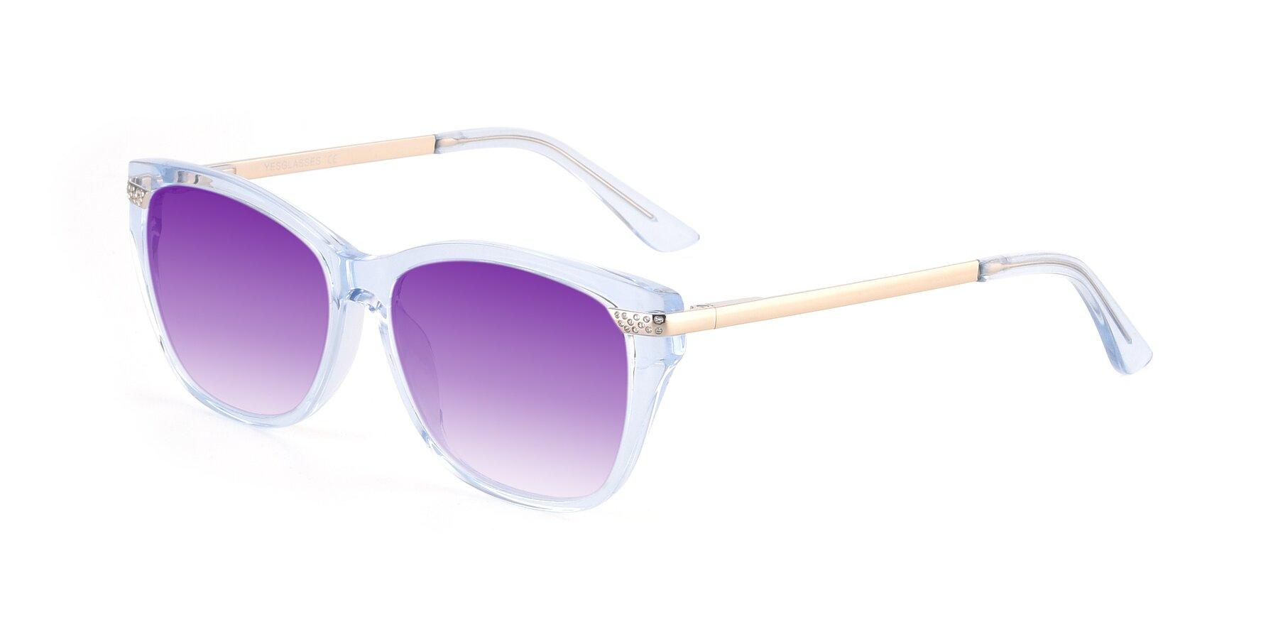 Angle of 17515 in Transparent Blue with Purple Gradient Lenses