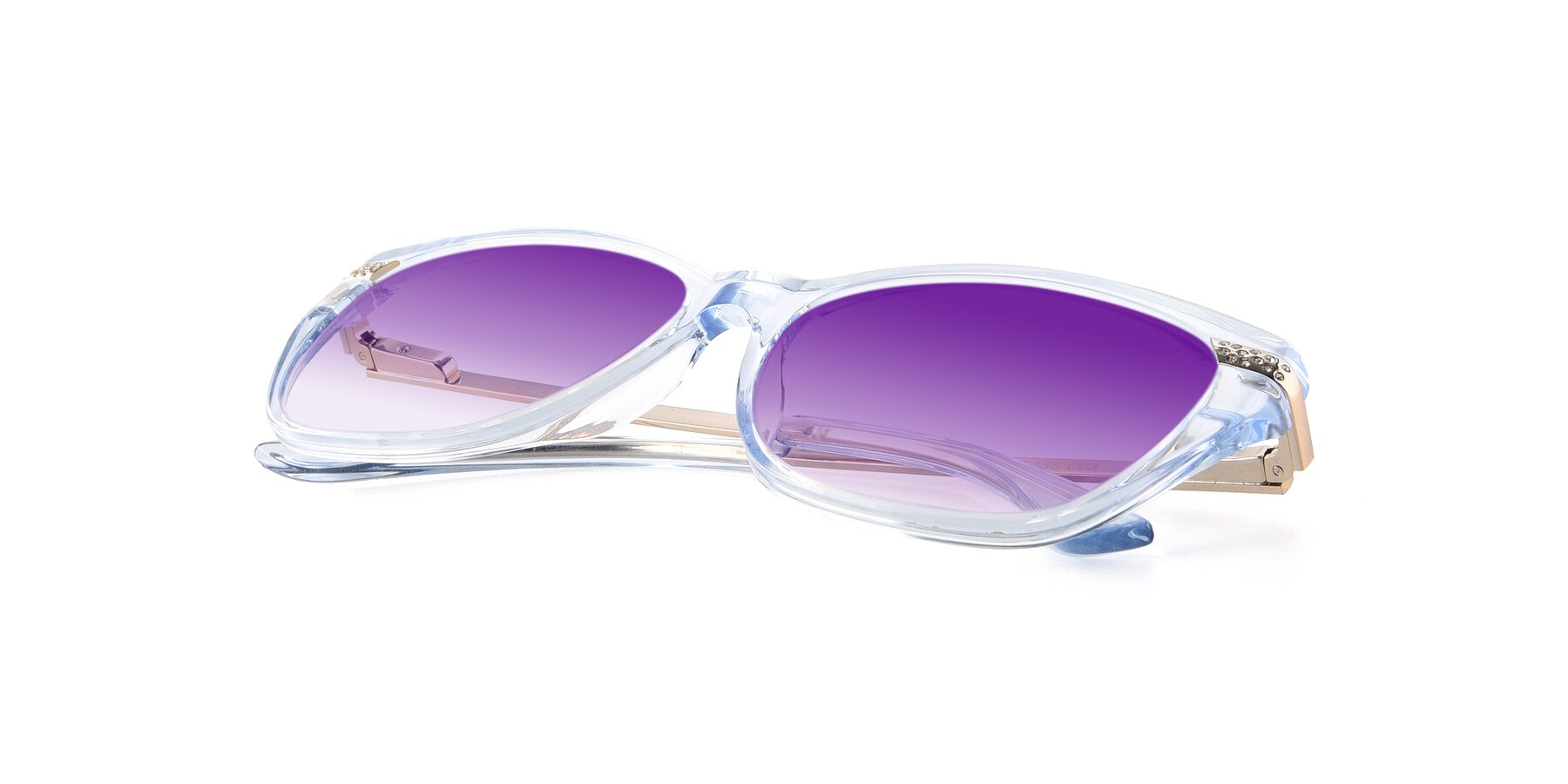 View of 17515 in Transparent Blue with Purple Gradient Lenses