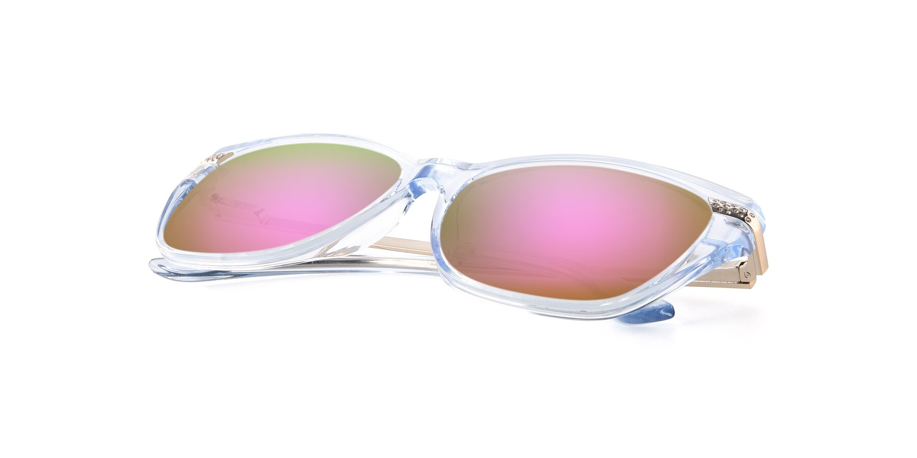 View of 17515 in Transparent Blue with Pink Mirrored Lenses