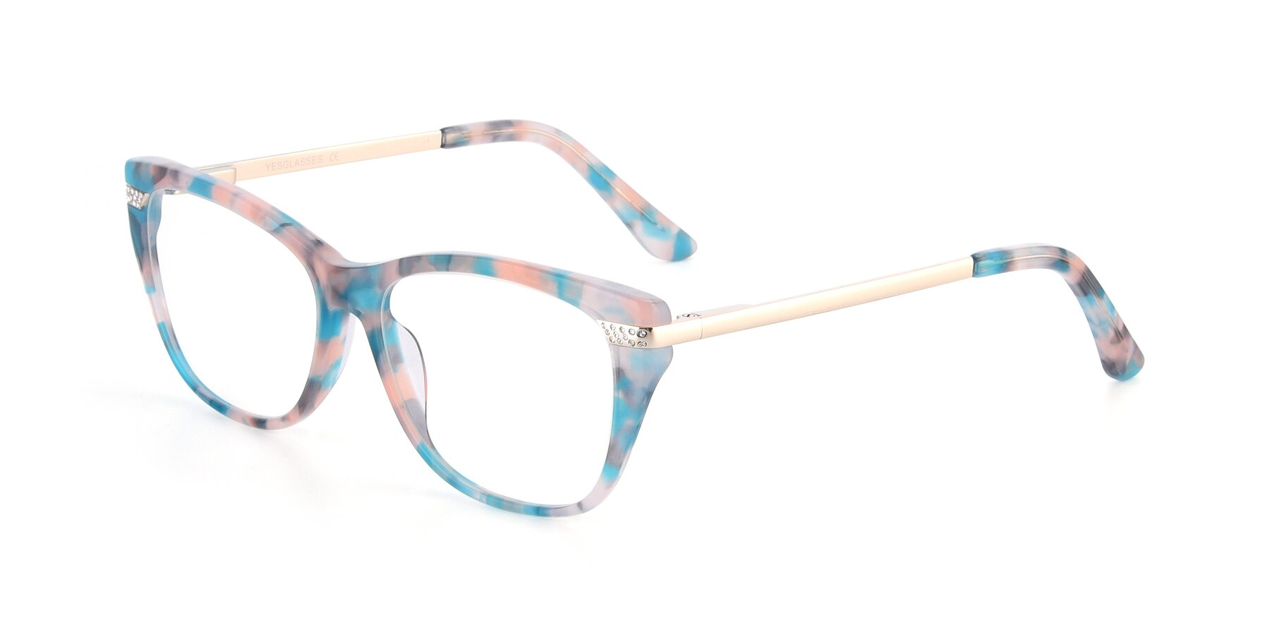 Angle of 17515 in Floral with Clear Blue Light Blocking Lenses
