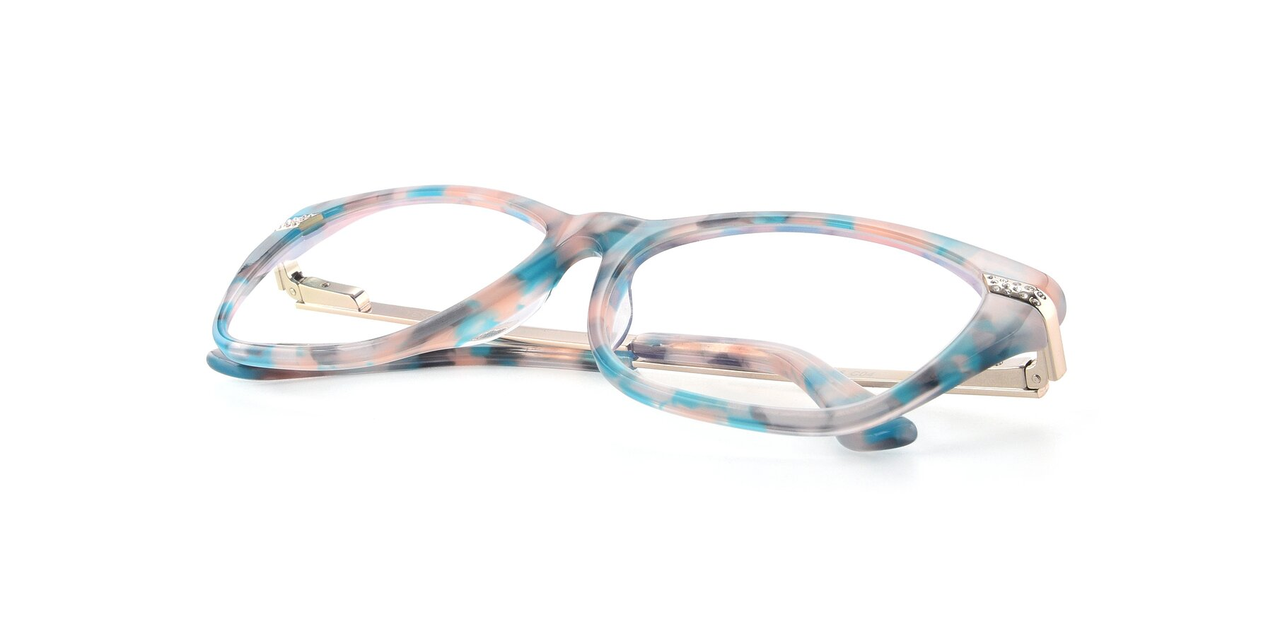 View of 17515 in Floral with Clear Blue Light Blocking Lenses