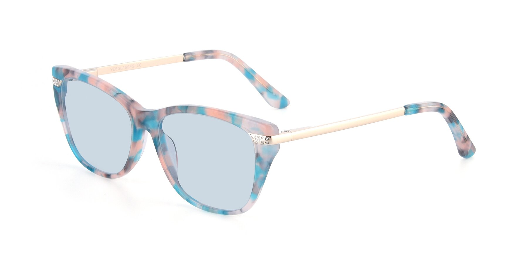Angle of 17515 in Floral with Light Blue Tinted Lenses