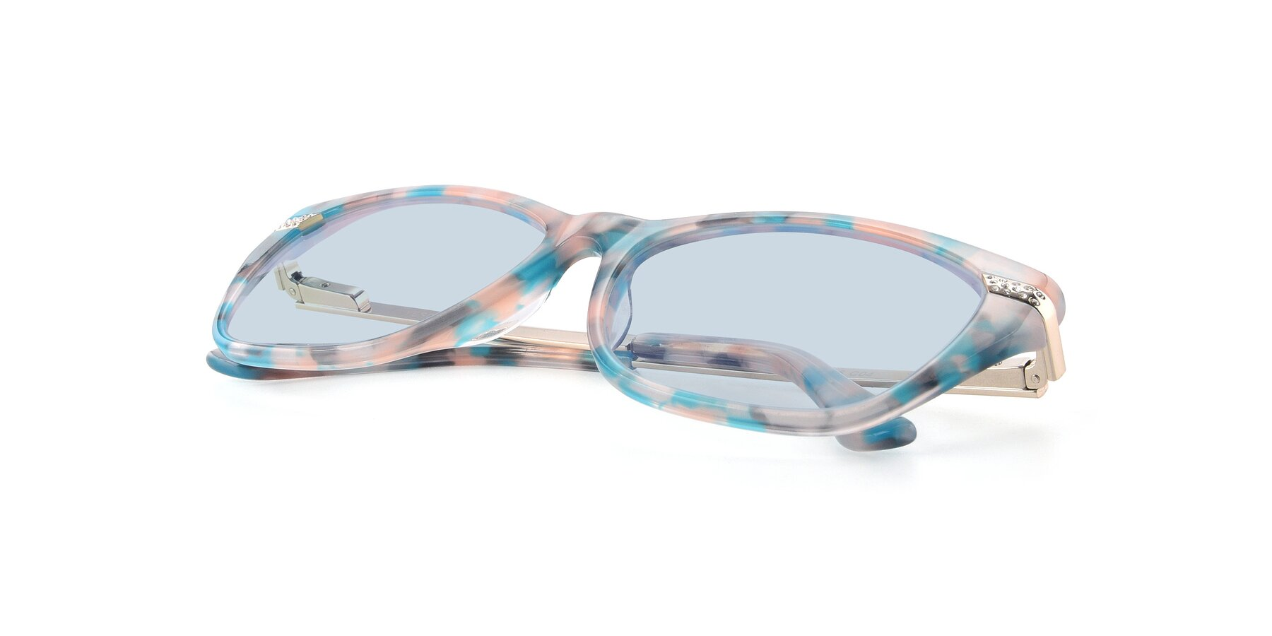 View of 17515 in Floral with Light Blue Tinted Lenses