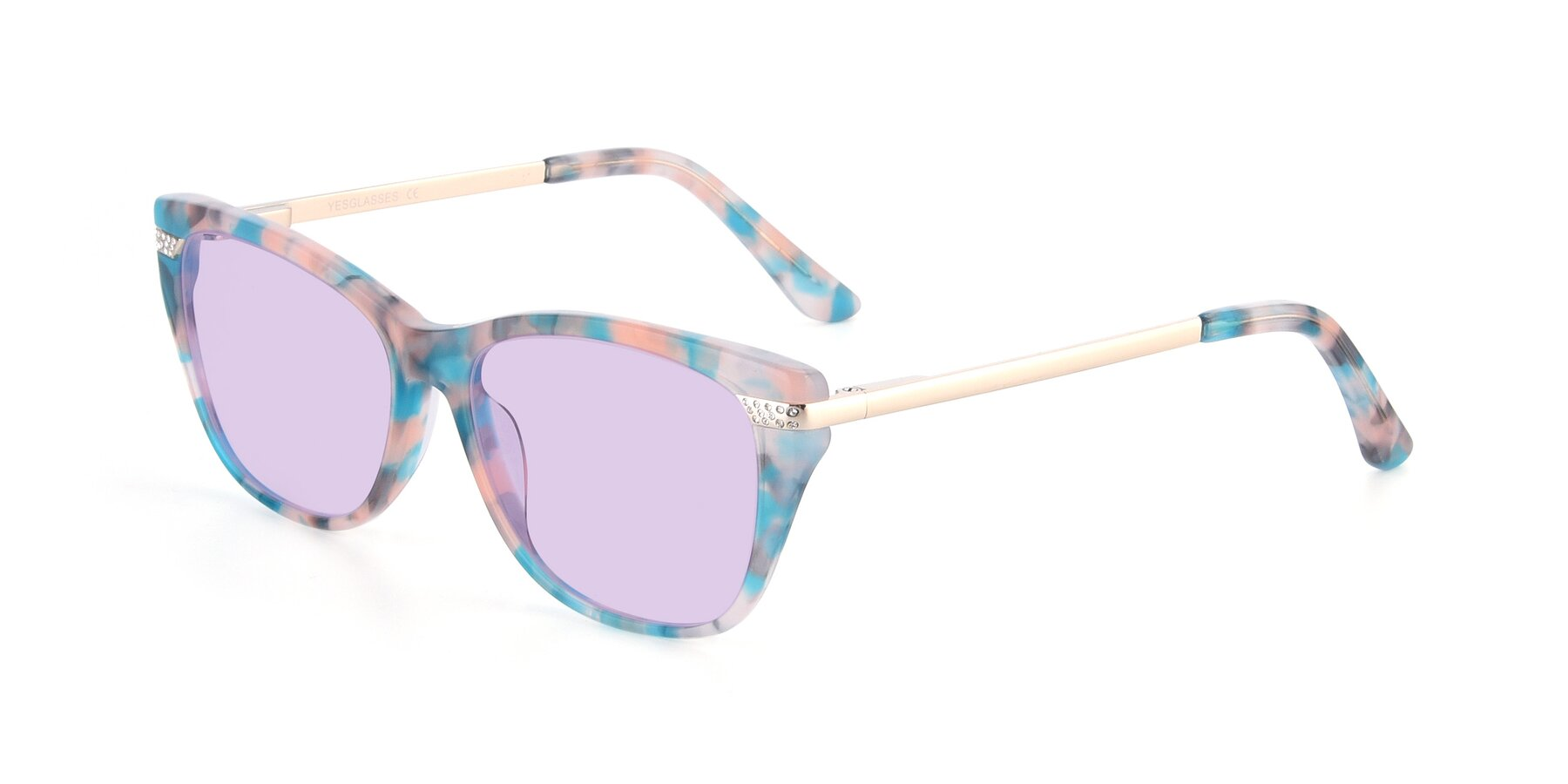 Angle of 17515 in Floral with Light Purple Tinted Lenses