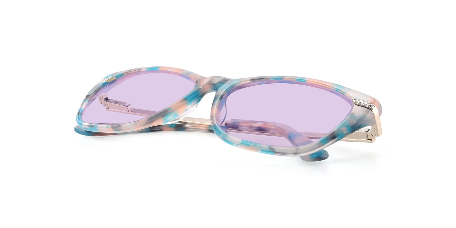 View of 17515 in Floral with Light Purple Tinted Lenses