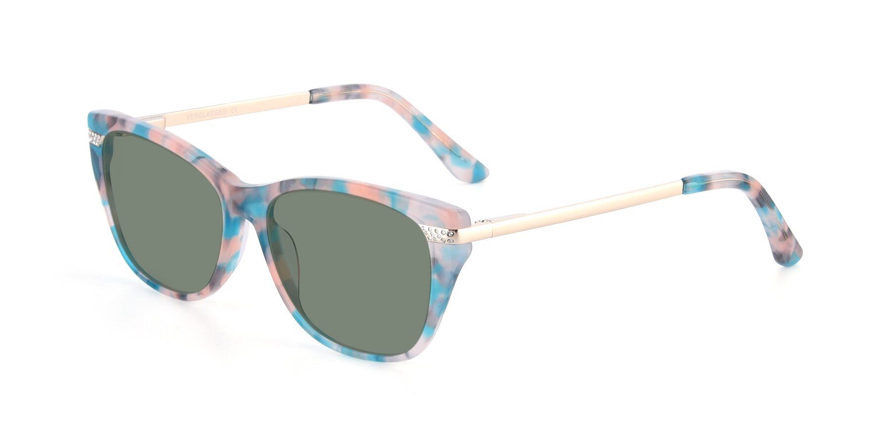 Angle of 17515 in Floral with Medium Green Tinted Lenses