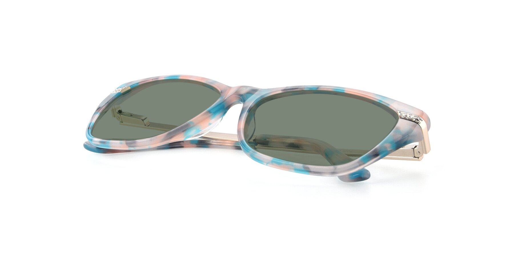 View of 17515 in Floral with Medium Green Tinted Lenses