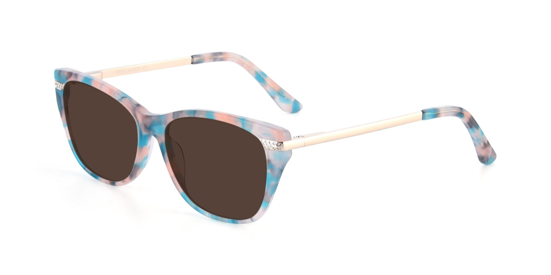Angle of 17515 in Floral with Brown Tinted Lenses