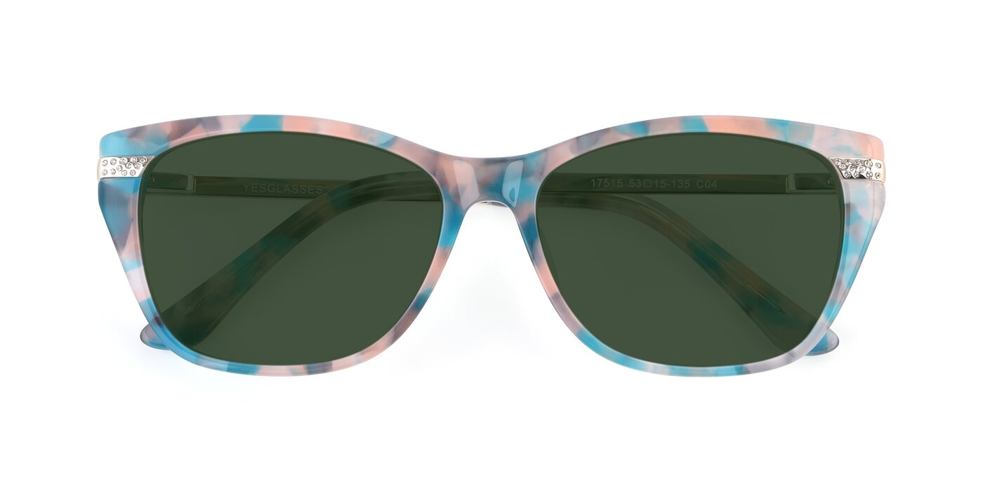 17515 - Floral Tinted Sunglasses