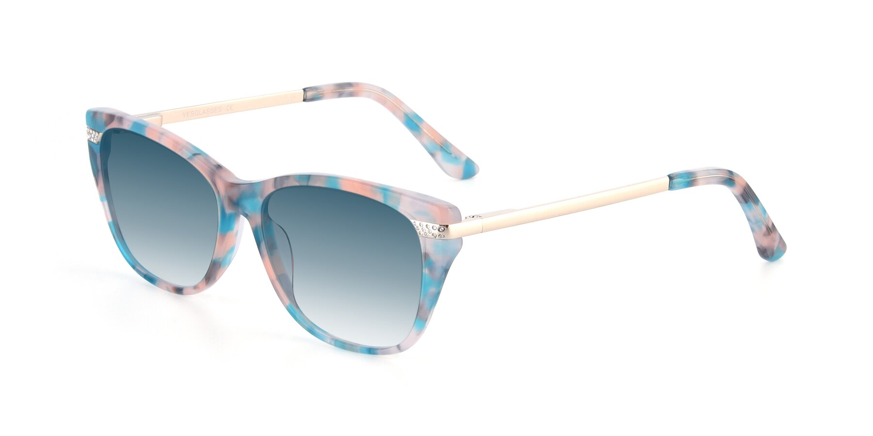 Angle of 17515 in Floral with Blue Gradient Lenses