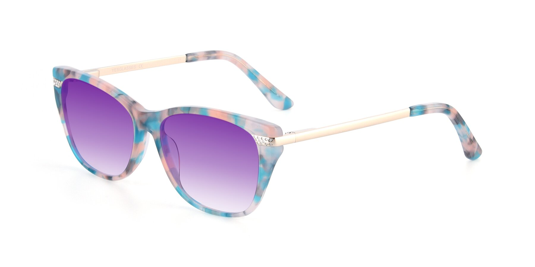 Angle of 17515 in Floral with Purple Gradient Lenses