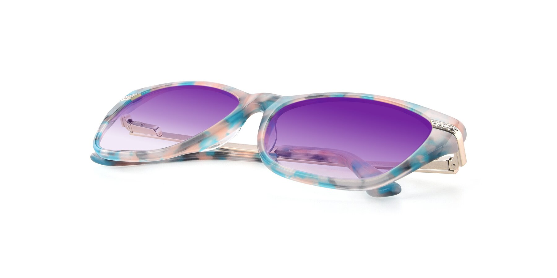 View of 17515 in Floral with Purple Gradient Lenses