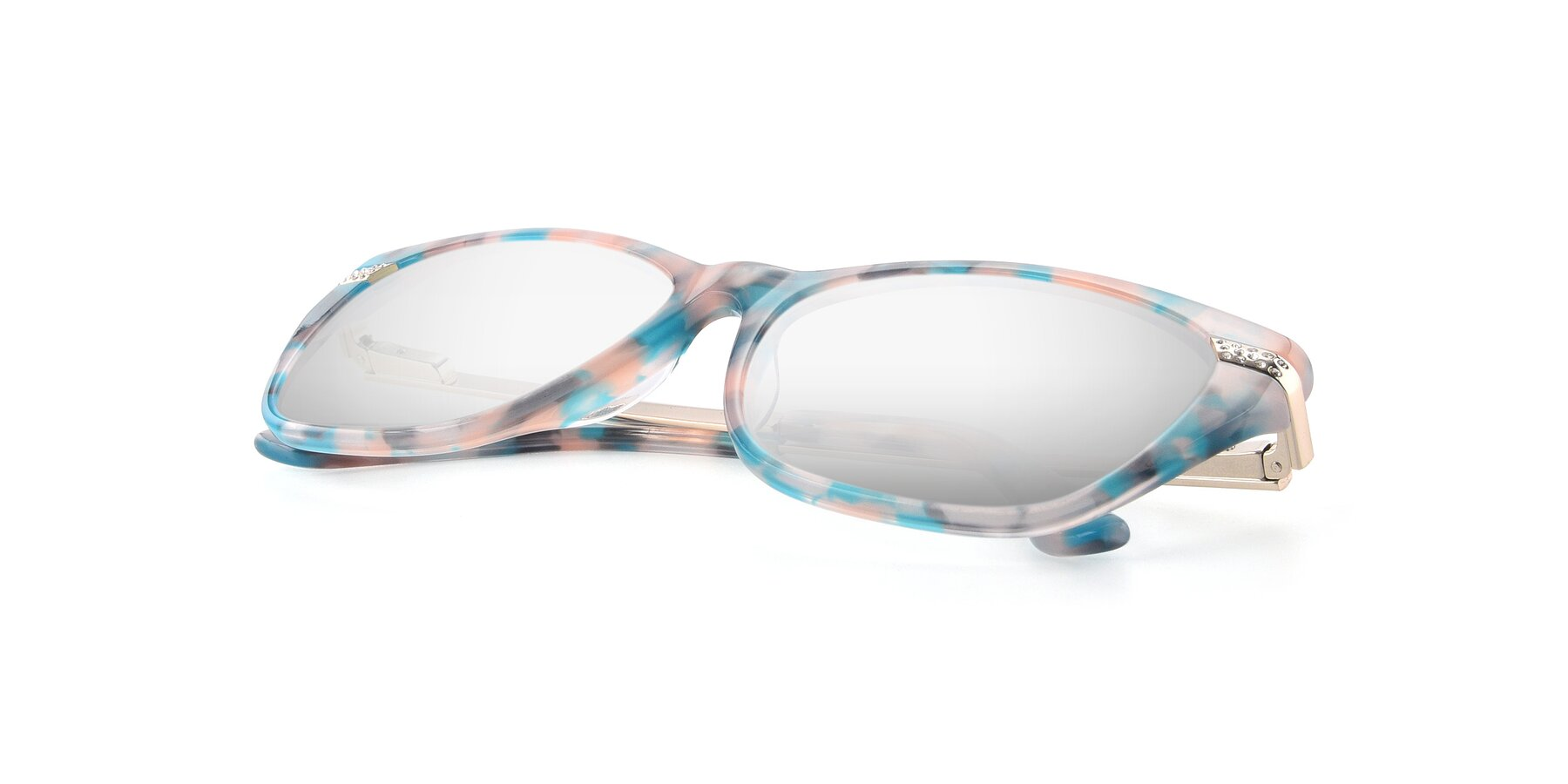 View of 17515 in Floral with Silver Mirrored Lenses
