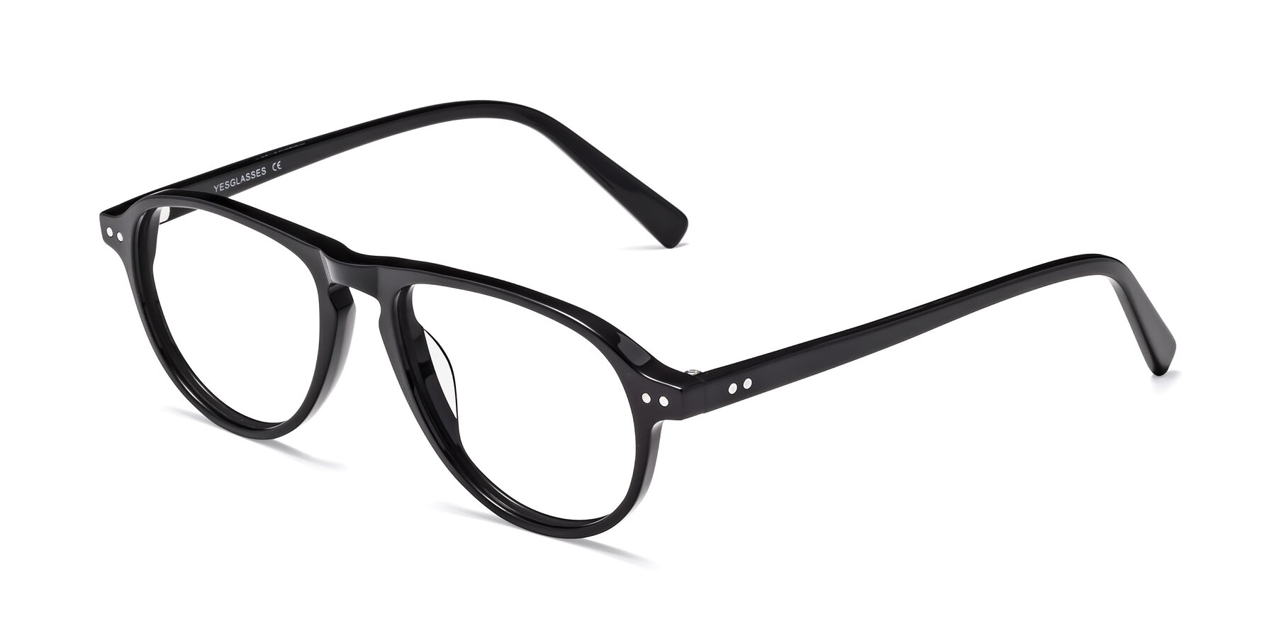 Angle of 17544 in Black with Clear Eyeglass Lenses
