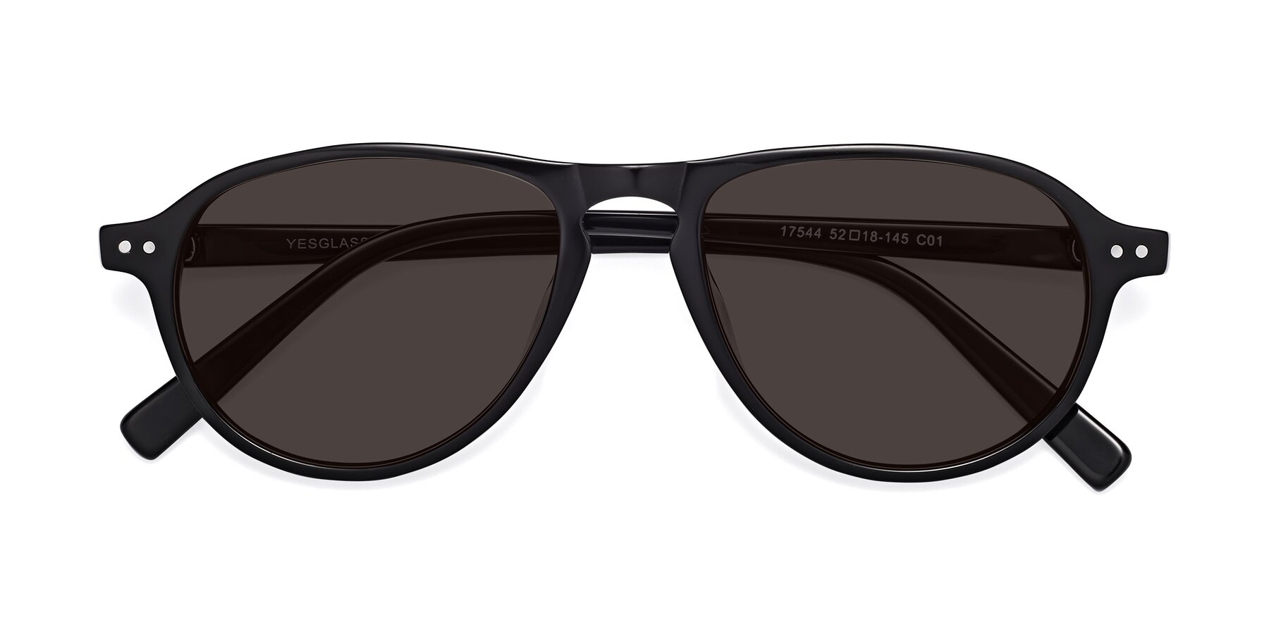 Folded Front of 17544 in Black with Gray Tinted Lenses
