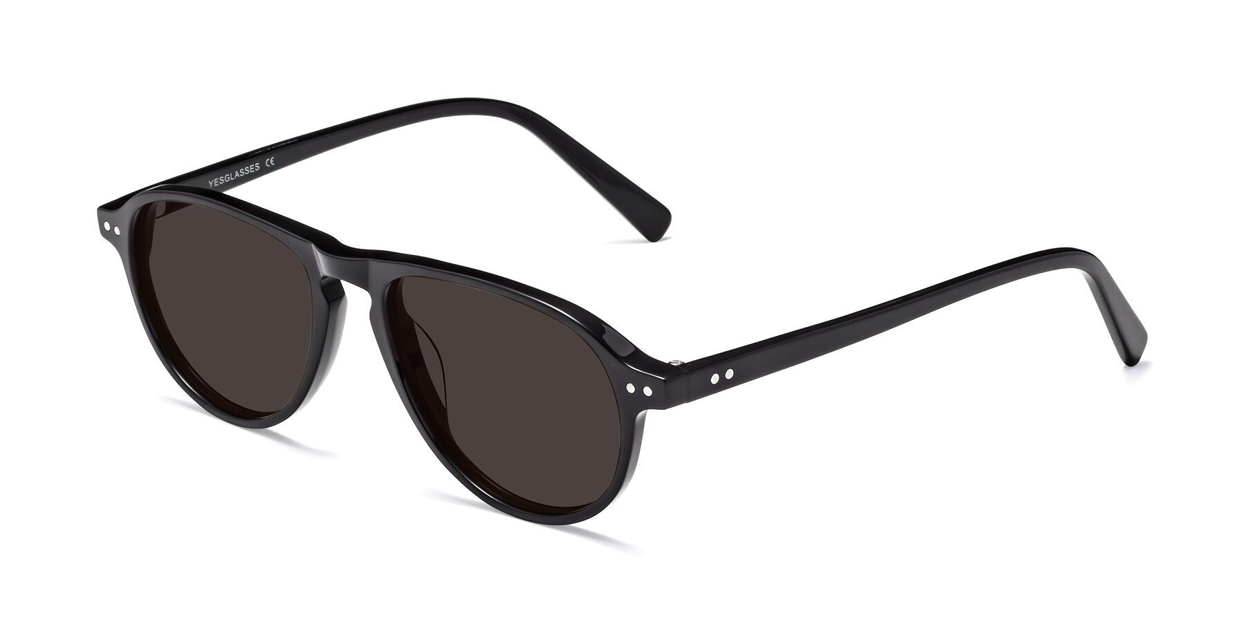 Angle of 17544 in Black with Gray Tinted Lenses
