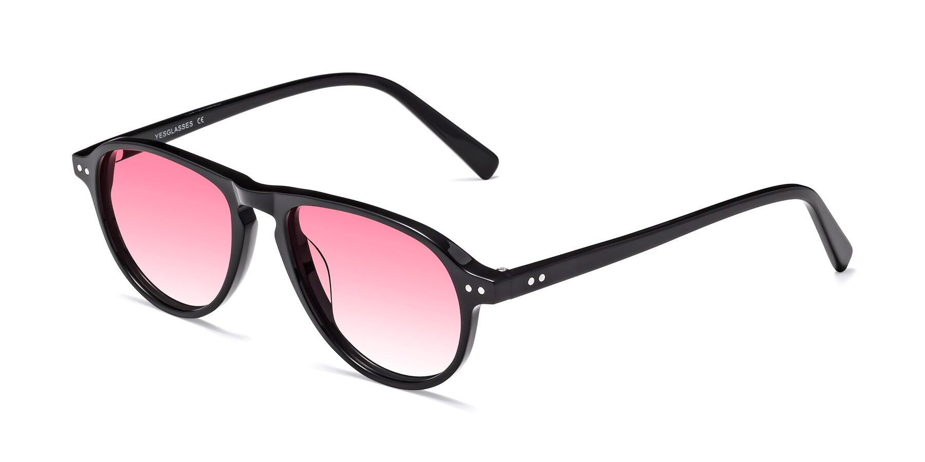 Angle of 17544 in Black with Pink Gradient Lenses