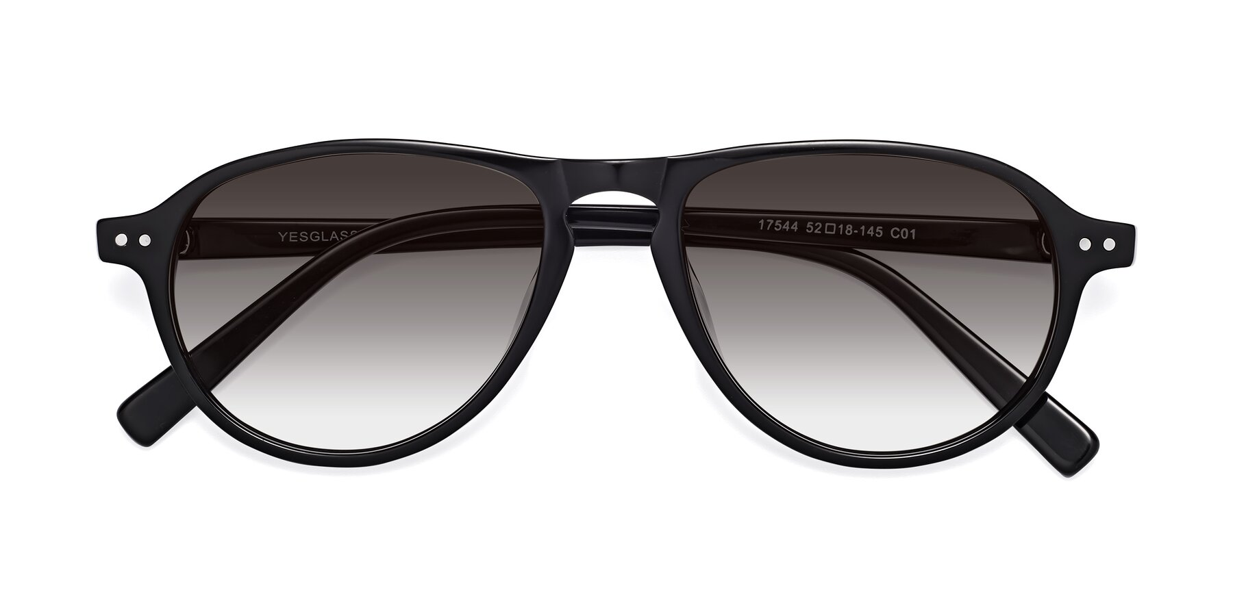 Folded Front of 17544 in Black with Gray Gradient Lenses