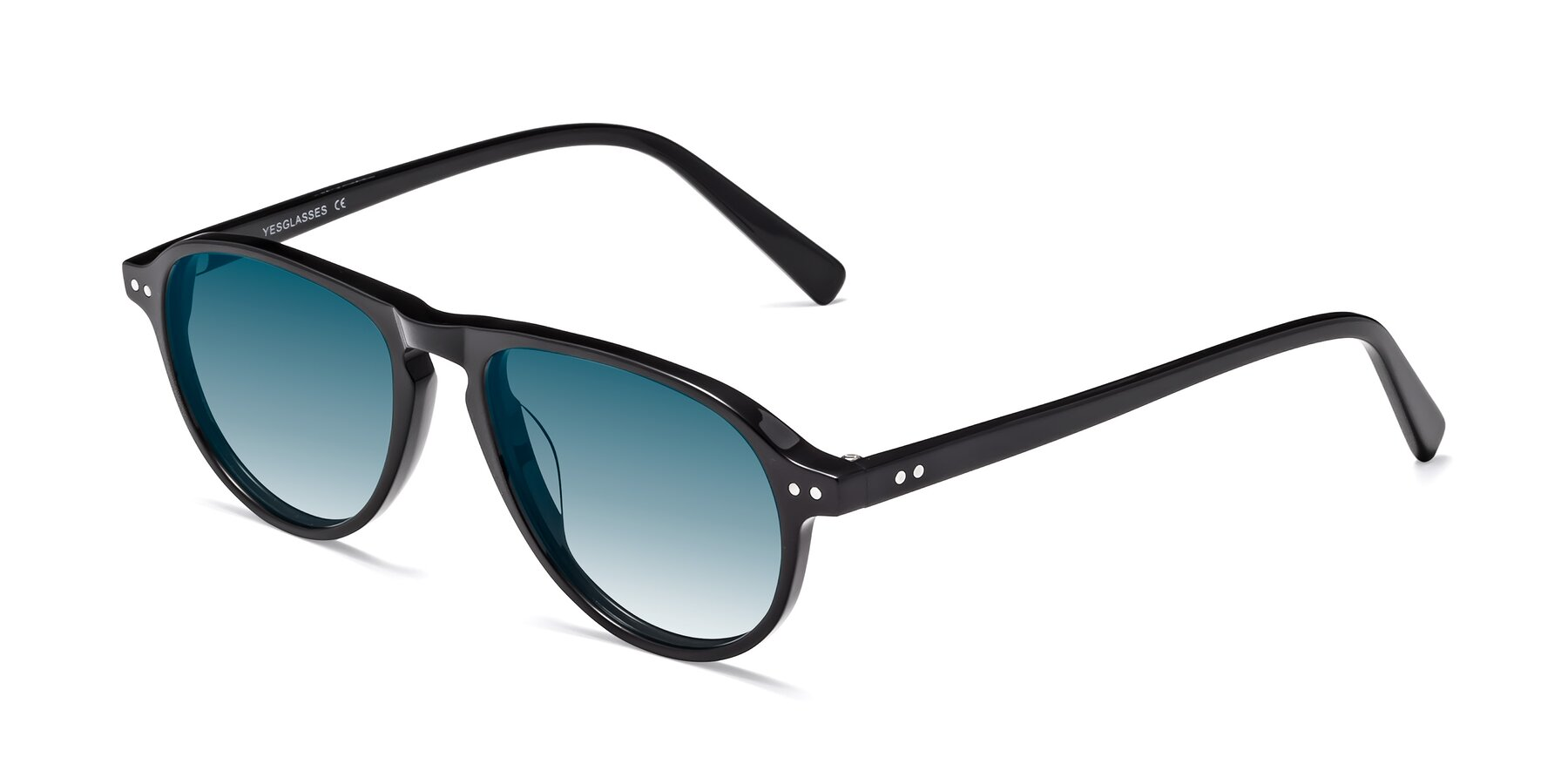 Angle of 17544 in Black with Blue Gradient Lenses