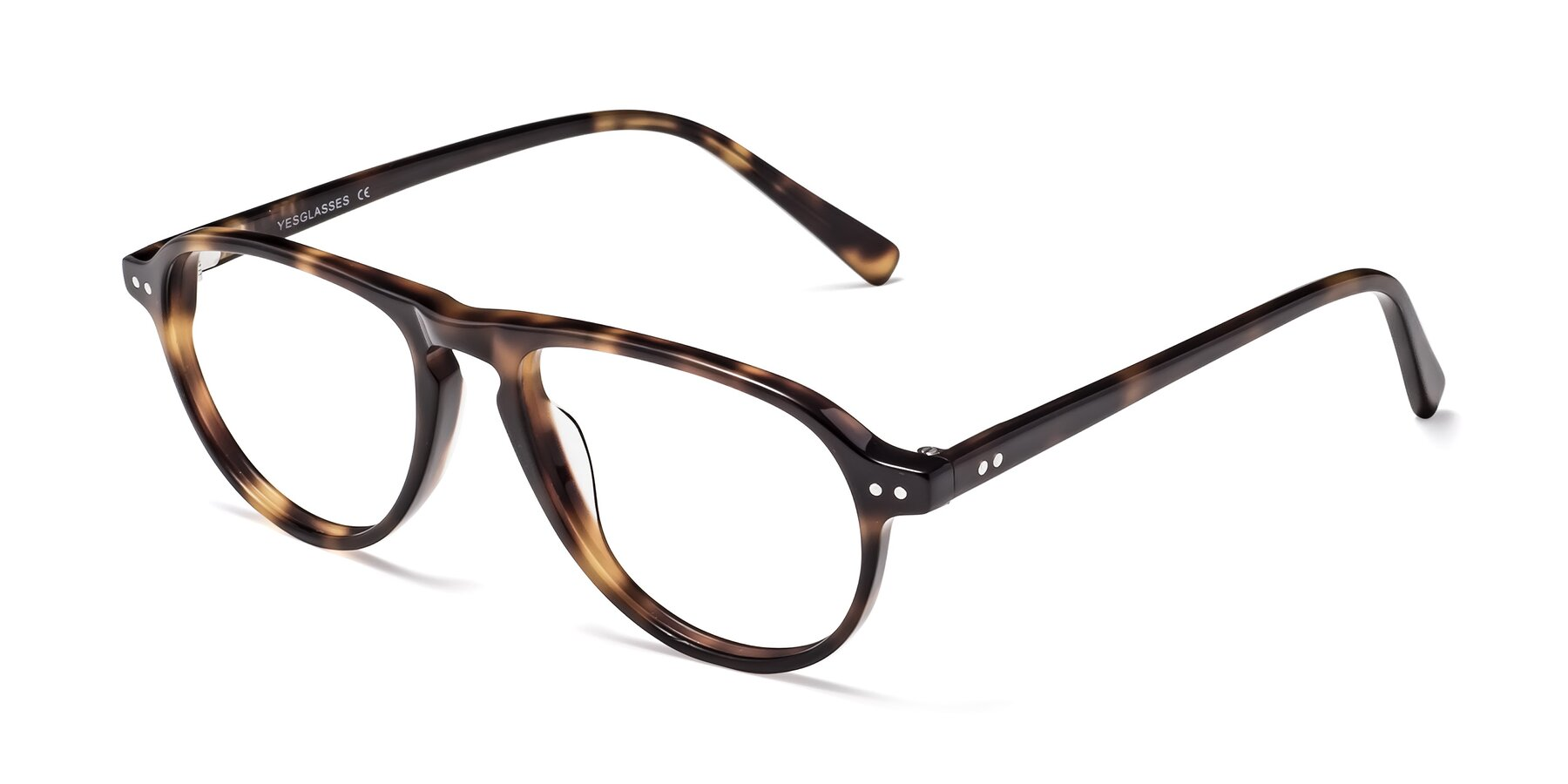Angle of 17544 in Tortoise with Clear Blue Light Blocking Lenses