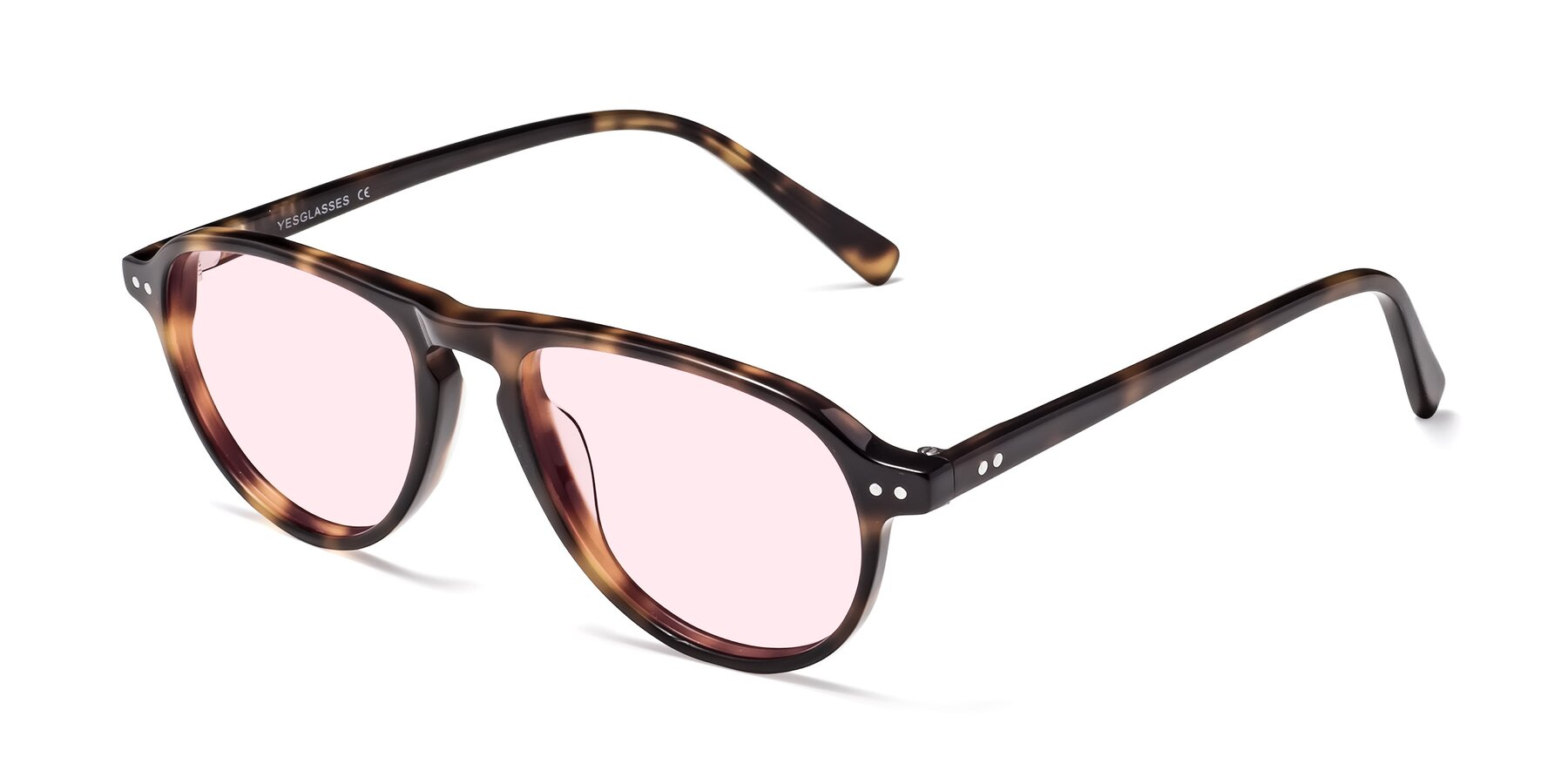 Angle of 17544 in Tortoise with Light Pink Tinted Lenses